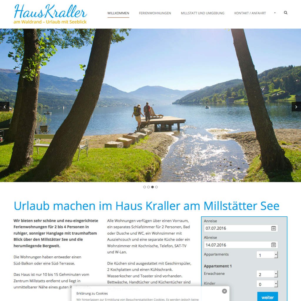Thumbnail der Haus-Kraller webseite