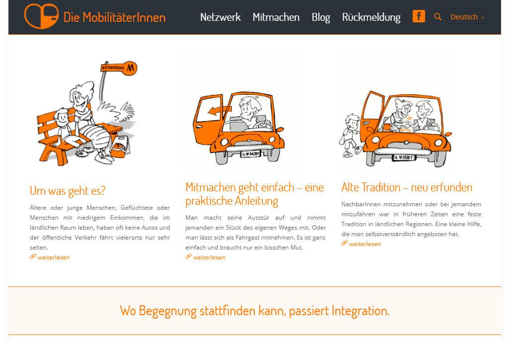 Thumbnail der Webseite der MobilitäterInnen