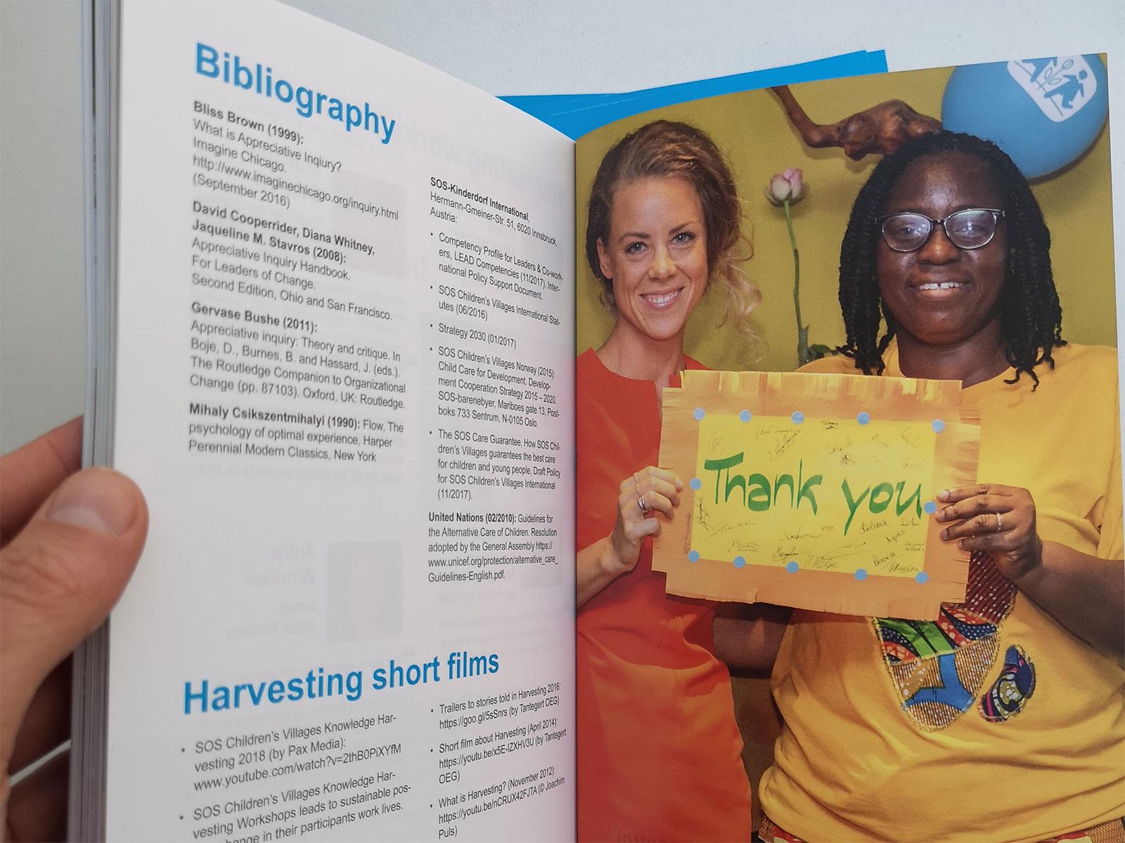 Foto von der Harvesting Broschüre der Sos Childrens Villages